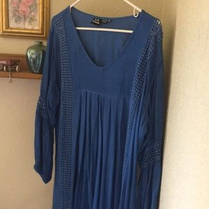 Rayon xxl my fav w leggings or as a dress blue